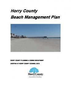 Horry County Beach Management Plan