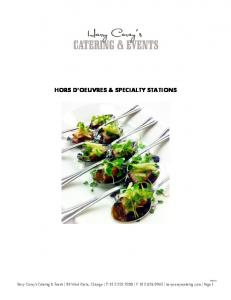 HORS D OEUVRES & SPECIALTY STATIONS