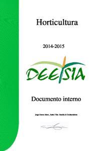 Horticultura. Documento interno Jorge. Cerezo Mnez., Isabel Fdez. Bastida & Colaboradores