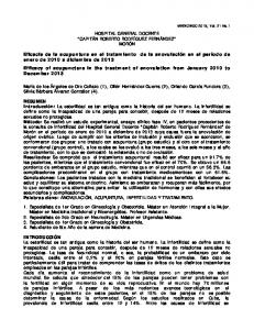 HOSPITAL GENERAL DOCENTE CAPITÁN ROBERTO RODRÍGUEZ FERNÁNDEZ MORÓN