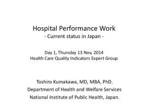 Hospital Performance Work - Current status in Japan -