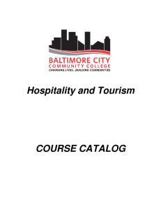 Hospitality and Tourism COURSE CATALOG