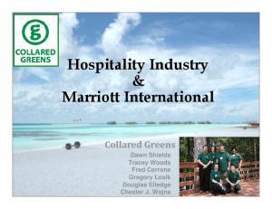 Hospitality Industry & Marriott International