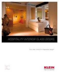 HOSPITALITY INTERIOR GLASS DOORS