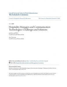 Hospitality Managers and Communication Technologies: Challenges and Solutions
