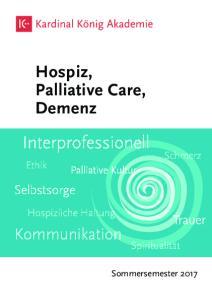 Hospiz, Palliative Care, Demenz
