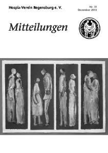 Hospiz-Verein Regensburg e. V. Nr. 31 Dezember 2013