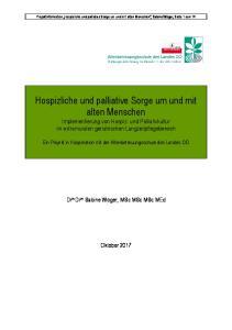 Hospizliche und palliative Sorge um und mit alten Menschen