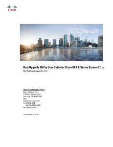 Host Upgrade Utility User Guide for Cisco UCS E-Series Servers 2.1.x