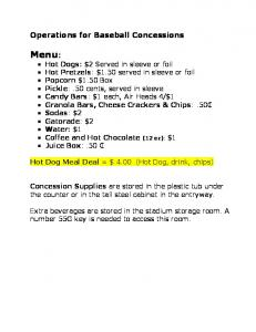 Hot Dog Meal Deal = $ 4.00 (Hot Dog, drink, chips)