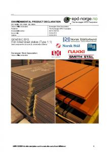Hot rolled steel plates (Type 1.1) Steel component to be used as construction material