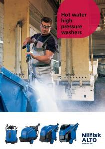 Hot water high pressure washers
