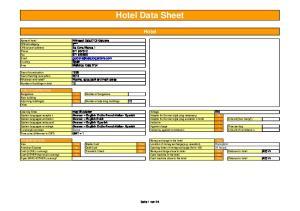 Hotel Data Sheet. Hotel
