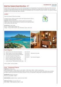 Hotel Four Seasons Resort Bora Bora - 5*