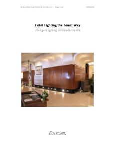 Hotel Lighting the Smart Way