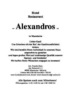 Hotel Restaurant. in Mannheim