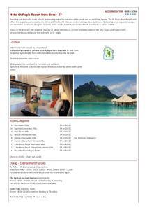 Hotel St Regis Resort Bora Bora - 5*