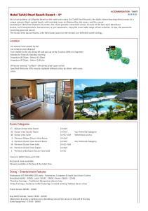 Hotel Tahiti Pearl Beach Resort - 4*