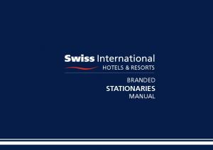 HOTELS & RESORTS BRANDED STATIONARIES MANUAL