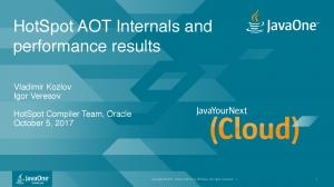HotSpot AOT Internals and performance results