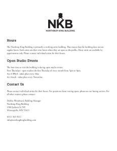 Hours. Open Studio Events. Contact Us