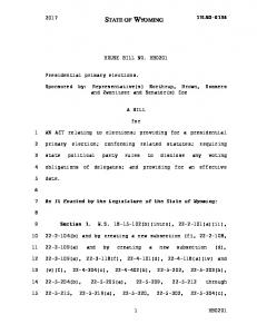 HOUSE BILL NO. HB0201. Sponsored by: Representative(s) Northrup, Brown, Sommers and Zwonitzer and Senator(s) Coe A BILL. for