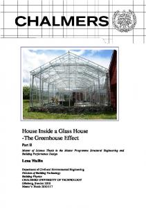 House Inside a Glass House -The Greenhouse Effect