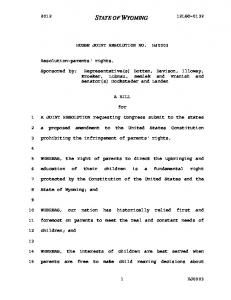 HOUSE JOINT RESOLUTION NO. HJ0003