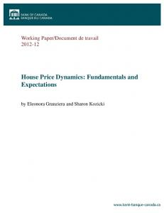 House Price Dynamics: Fundamentals and Expectations