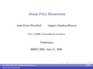 House Price Movements