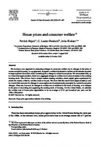 House prices and consumer welfare