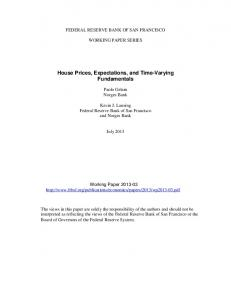 House Prices, Expectations, and Time-Varying Fundamentals