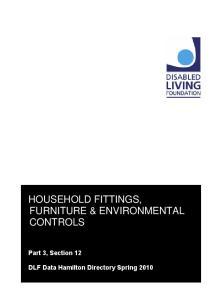 HOUSEHOLD FITTINGS, FURNITURE & ENVIRONMENTAL CONTROLS