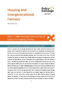 Housing and Intergenerational Fairness