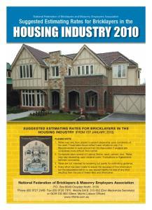HOUSING INDUSTRY 2010