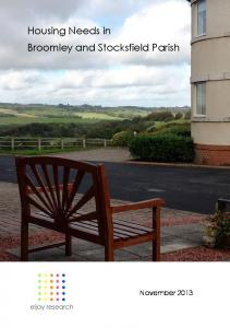 Housing Needs in Broomley and Stocksfield Parish