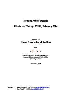 Housing Price Forecasts. Illinois and Chicago PMSA, February 2016