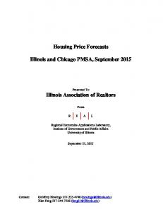 Housing Price Forecasts. Illinois and Chicago PMSA, September 2015