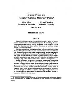 Housing Prices and Robustly Optimal Monetary Policy