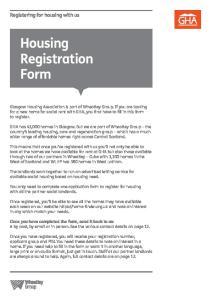 Housing Registration Form