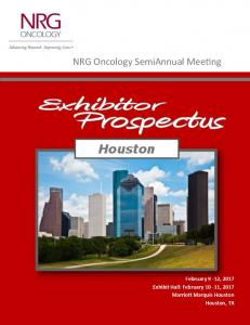 Houston February 9-12, 2017 Exhibit Hall: February 10-11, 2017 Marriott Marquis Houston Houston, TX