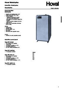 Hoval Modul-plus. Calorifier Modul-plus. Description. Hoval Calorifier Modul-plus. Calorifier control panel