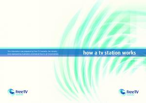 how a tv station works