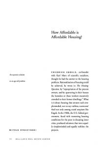 How Affordable is Affordable Housing?