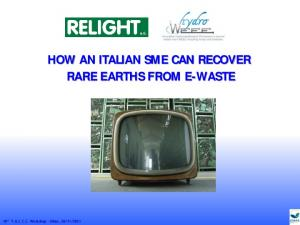 HOW AN ITALIAN SME CAN RECOVER RARE EARTHS FROM E-WASTE