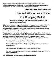 How and Why to Buy a Home in a Changing Market