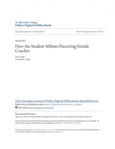 How Are Student Athletes Perceiving Female Coaches