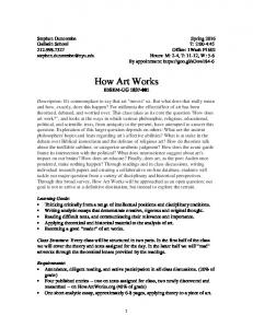 How Art Works IDSEM-UG