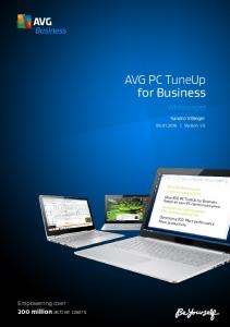 How AVG PC TuneUp for Business