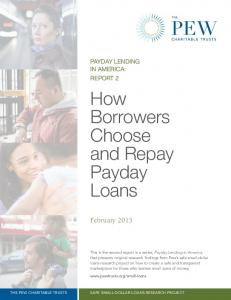 How Borrowers Choose and Repay Payday Loans